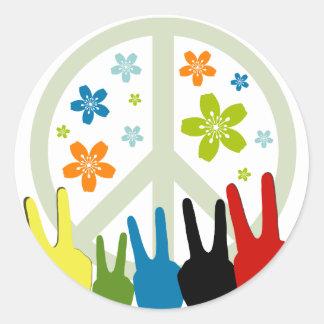 Peace Love Freedom Round Sticker