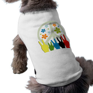 Peace Love Freedom Sleeveless Dog Shirt