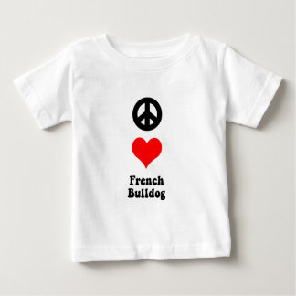 Peace love French Bulldog Baby T-Shirt