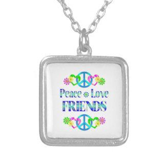 Peace Love Friends Necklace