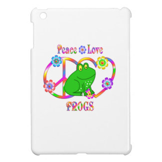 Peace Love Frogs iPad Mini Cases