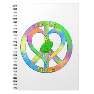 Peace Love Frogs Note Book