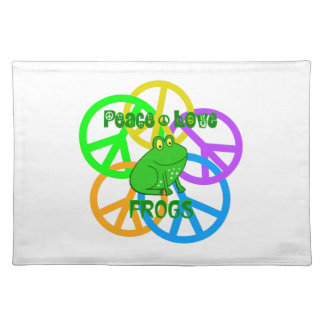 Peace Love Frogs Placemat