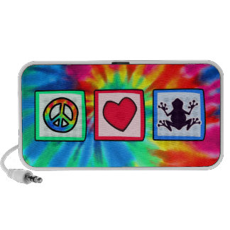 Peace, Love, Frogs iPhone Speakers