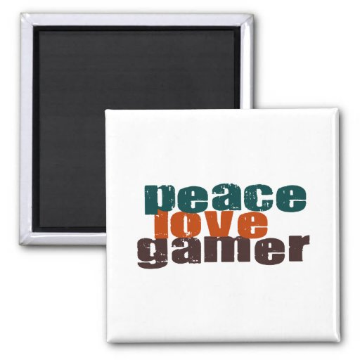 Peace Love Gamer Magnets
