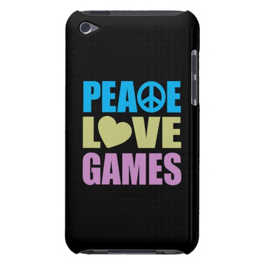 Peace Love Games iPod Touch Case-Mate Case