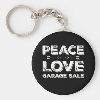 Peace Love Garage Sale Keychain