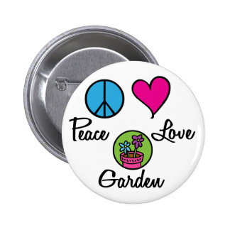 Peace Love Garden 6 Cm Round Badge