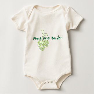 Peace, Love & Garden Baby Bodysuit