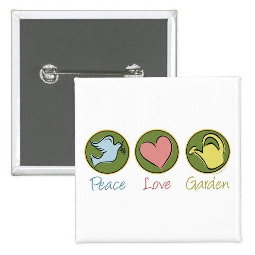 Peace, Love, Garden Pins
