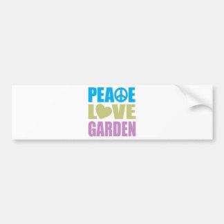 Peace Love Garden Bumper Sticker