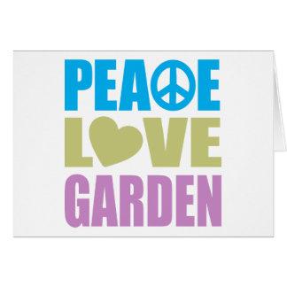Peace Love Garden Card