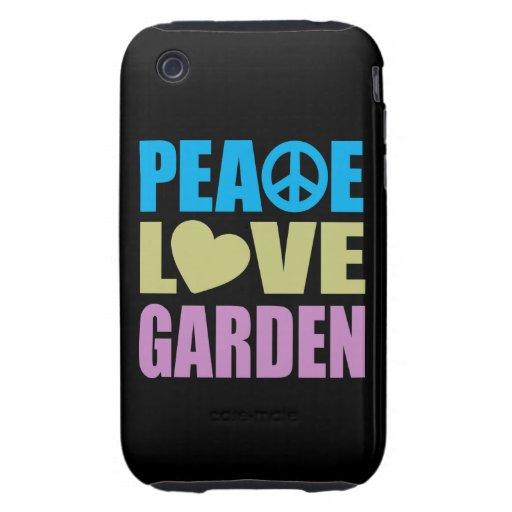 Peace Love Garden Tough iPhone 3 Covers