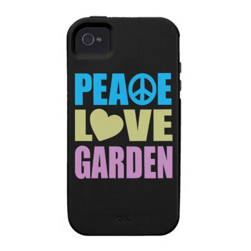 Peace Love Garden iPhone 4 Covers