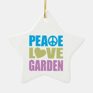 Peace Love Garden Christmas Ornament