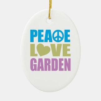 Peace Love Garden Ceramic Oval Decoration