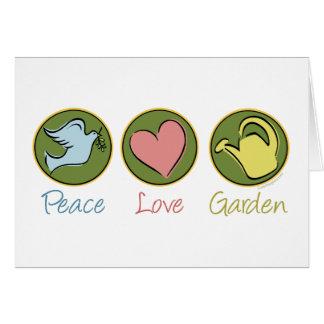 Peace, Love, Garden Greeting Card