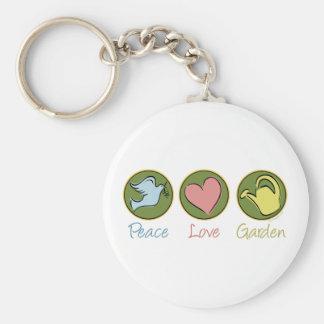 Peace Love Garden Keychain