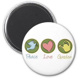 Peace, Love, Garden Magnet