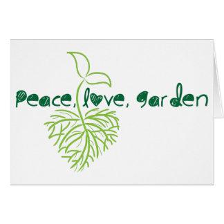 Peace Love Garden Note Card