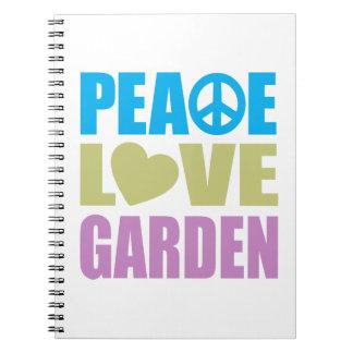 Peace Love Garden Spiral Notebook