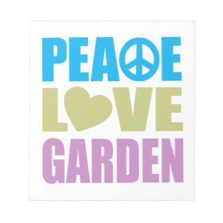 Peace Love Garden Memo Pad