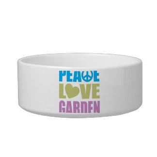 Peace Love Garden Cat Food Bowl