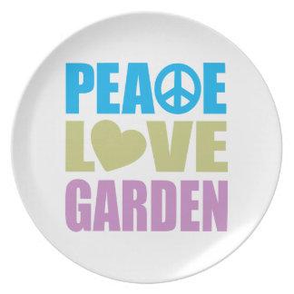 Peace Love Garden Plate