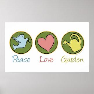 Peace, Love, Garden Poster