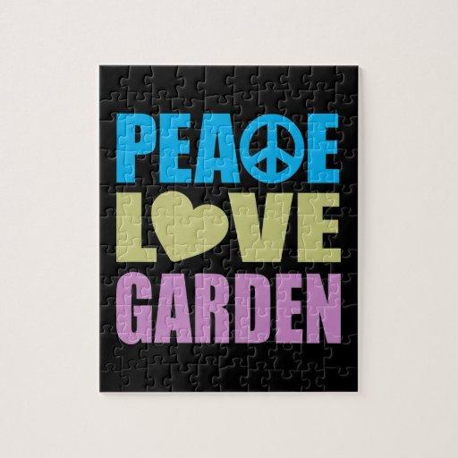 Peace Love Garden Jigsaw Puzzles