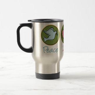 Peace, Love, Garden Stainless Steel Travel Mug