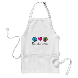 Peace Love Garden Standard Apron
