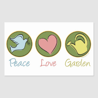 Peace, Love, Garden Stickers