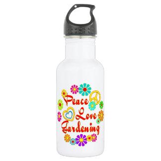 PEACE LOVE Gardening 532 Ml Water Bottle