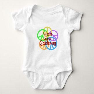 Peace Love Gardening Baby Bodysuit