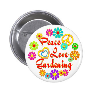 PEACE LOVE Gardening Pins
