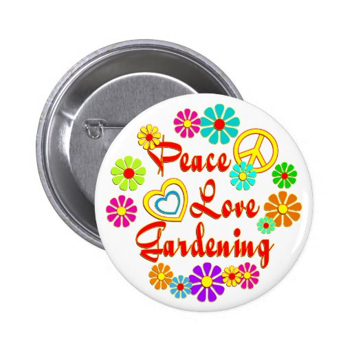PEACE LOVE Gardening Pins