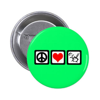 peace love gardening button