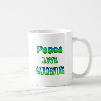 Peace Love Gardening Basic White Mug