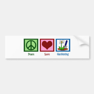Peace Love Gardening Bumper Sticker