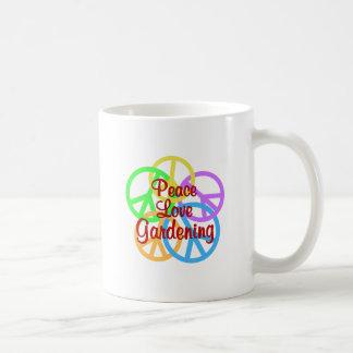 Peace Love Gardening Coffee Mug