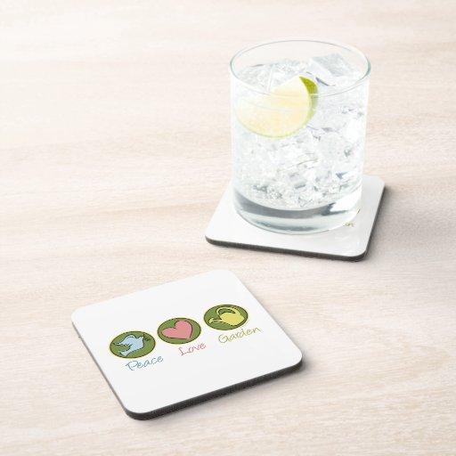 Peace Love Gardening Beverage Coaster