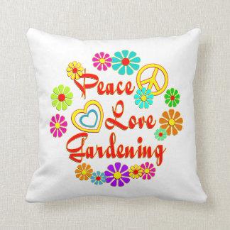 PEACE LOVE Gardening Throw Pillows