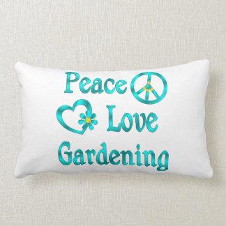 Peace Love Gardening Throw Pillow