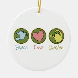 Peace Love Gardening Christmas Tree Ornament