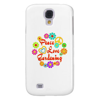 PEACE LOVE Gardening Galaxy S4 Covers