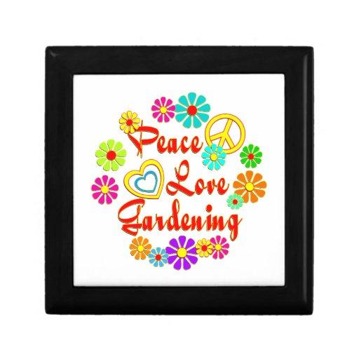 PEACE LOVE Gardening Jewelry Box