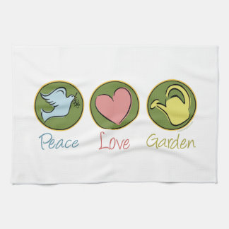 Peace Love Gardening Hand Towels