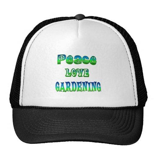 Peace Love Gardening Hats