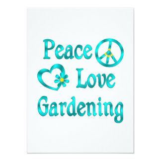 Peace Love Gardening Custom Invites